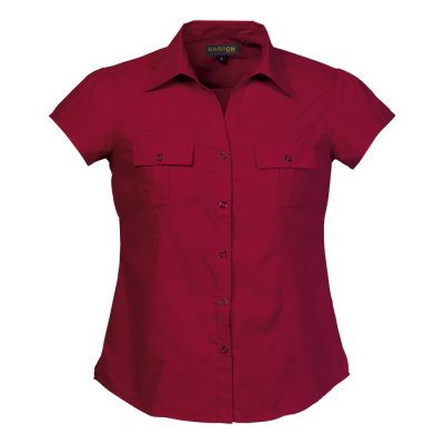 Ladies City Blouse Red Size 2XL