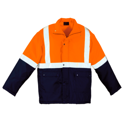 Venture Padded Jacket Safety Orange/Navy Size 5XL