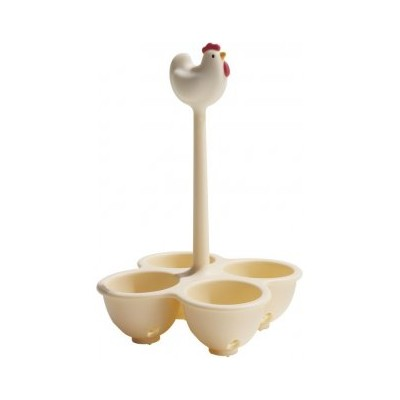 Alessi Basket For Cooking Eggs White