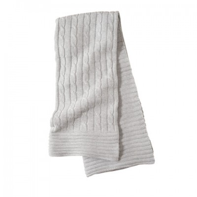 Elegant Baby Cable Knit Blanket Gray