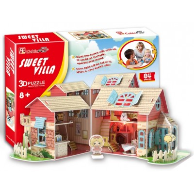 Cubic Fun Sweet Villa 84Pieces