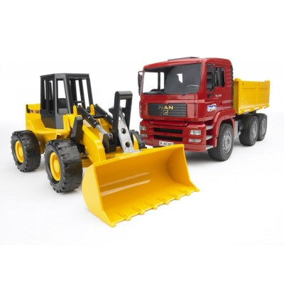 Bruder Man Tga Constr. Truck with Road Loader Fr130