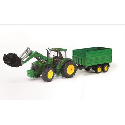 Bruder John Deere 7930 with Frontloader & Tipping Trailer