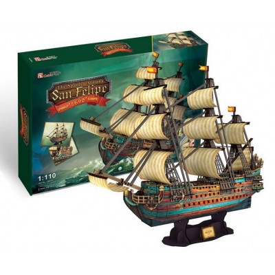 Cubic Fun The Spanish Armada - San Felipe 248Pieces