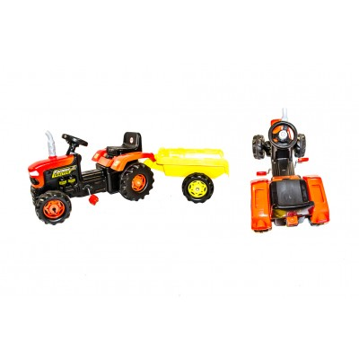 Dolu - Green Tractor & Trailor Pedal Car