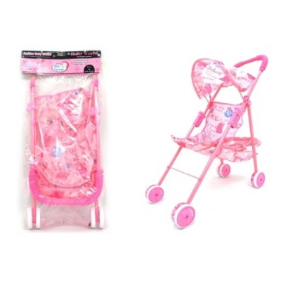 Doll Buggy With Canopy And Basket