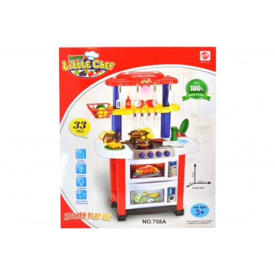 Battery Operated Kitchen Playset With Light & Sound