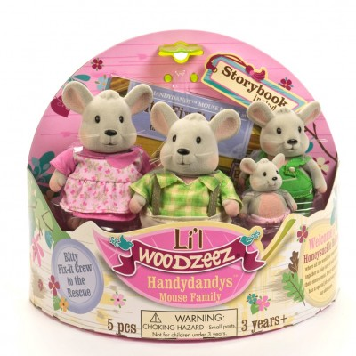 Li'L Woodzeez Mouse Family With Storybook