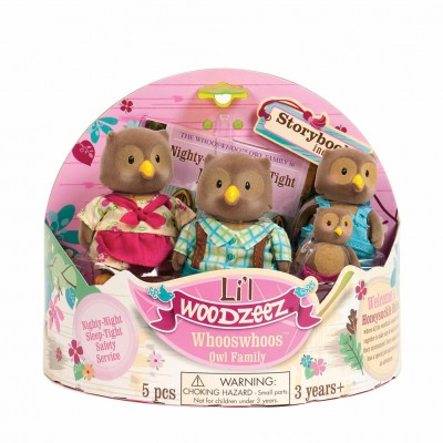 Li'L Woodzeez Owl Family With Storybook