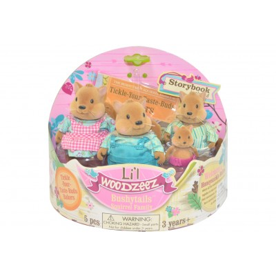 Li'L Woodzeez Squirrel Family With Storybook