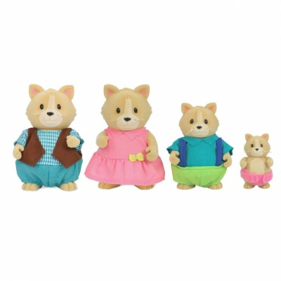 Li'L Woodzeez Cat Family With Storybook