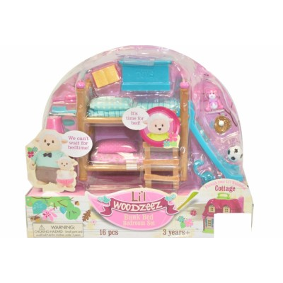 Li'L Woodzeez Bunk Beds Kids Room Playset
