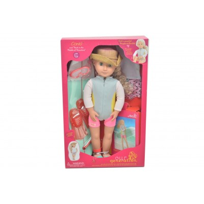 Our Generation Doll Coral Surfer With Book 18 Inch Blonde Deluxe