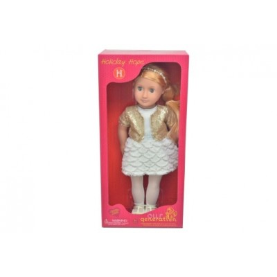 Our Generation Doll Holiday Hope With Gold Jacket 18 Inch Blonde Basic