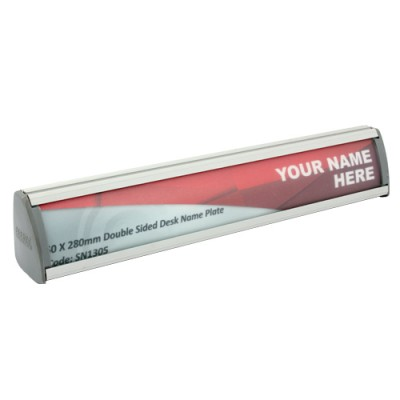 Sign Frame Desk Name Plate 280X50Mm Double Sided