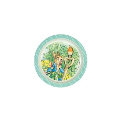 Peter Rabbit - Plate - Green Dots