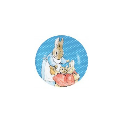 Peter Rabbit - Small Plate Blue Dots