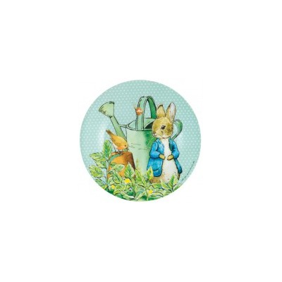 Peter Rabbit - Small Plate Green Dots