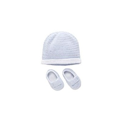 Hat & Bootie Set. Blue