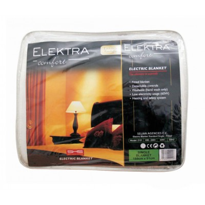 Elektra 2101 Electric Blanket Single Standard Fitted