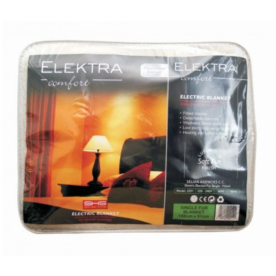 Elektra Electric Blanket Single Acrylic Fur Fitted