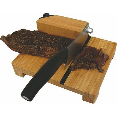 Tekut Bamboo Biltong Slicer W T/ Carbide Knife Sharpener