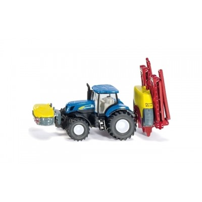 Siku 1/87 New Holland Tractor with Kverneland Crop Sprayer
