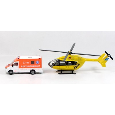 Siku 1/87 Rescue Set with Mercedes-Benz Van