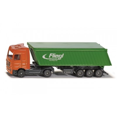 Siku 1/87 Mercedes-Benz Truck With Trailer And Roof