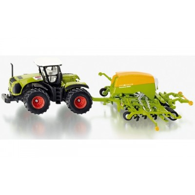 Siku 1/87 Claas Tractor With Amazone Cayena Seeder