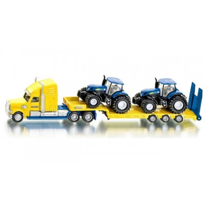 Siku 1/87 Us Truck With New Holland Tractors