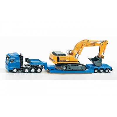 Siku 1/87 Man Truck & Trailer with Liebherr Excavator
