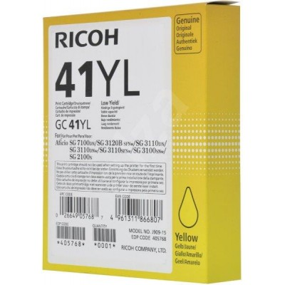 Ricoh Gc41Yl Yellow Toner 600 Pages @ 5% Idc.