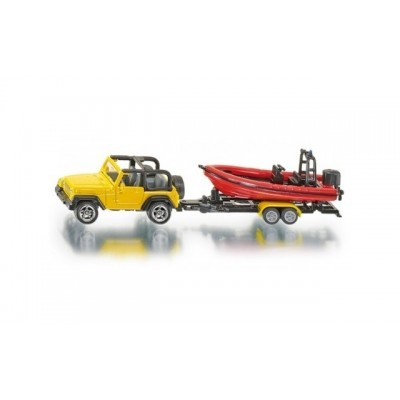 Siku Jeep With Trailer & Boat