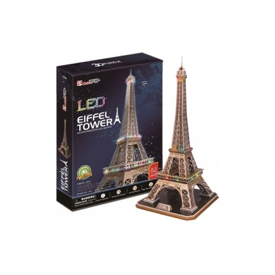 Cubic Fun Eiffel Tower (France) 85Pieces with Led Unit