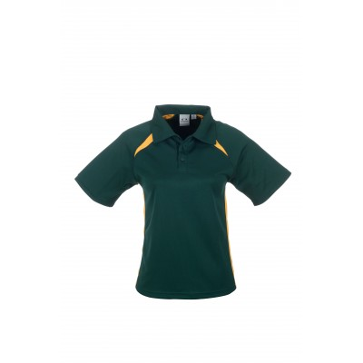 Splice Kids Golf Shirt Green and Gold Size 10