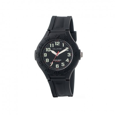 Hallmark Kids Resin Watch With Full Figure Black Dial