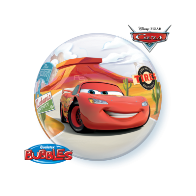22 Inch Single Bubble Lightning Mcqueen&Mater 1Ctp Foil Bag balloon