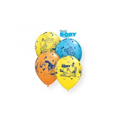 11 Inch Latex Rnd Prt Dory 5 Side Print 25Ctp Polybag balloon