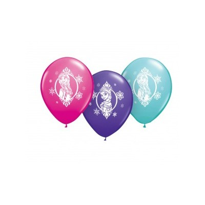 11 Inch Latex Rnd Printed Frozen 2 Side Prnt 25Ctp Polybag balloon