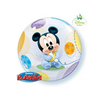 22 Inch Single Bubble Baby Mickey 1Ctp Foil Bag balloon