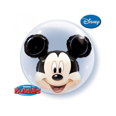 24 Inch Round Bubble Mickey 1Ctp Foil Bag balloon