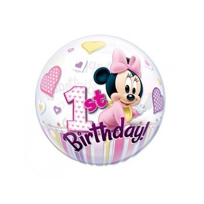 22 Inch Single Bubble Min 1St Bday 1Ctp Foil Bag balloon