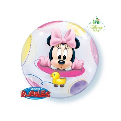 22 Inch Single Bubble Baby Minnie 1Ctp Foil Bag balloon