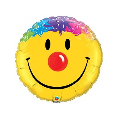 36 Inch Foil Rnd Sw Smile Face 1Ctp Carded Polybag balloon