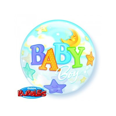 22 Inch Single Bubble Baby B Mo&St 1Ctp Foil Bag balloon