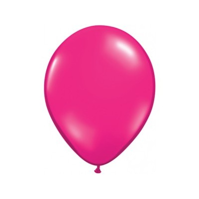 5 Inch Latex Jewel Magenta 100Ctp Polybag balloon