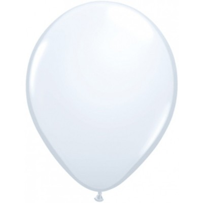 5 Inch Latex Plain Rnd White Plain 100Ctp Polybag balloon