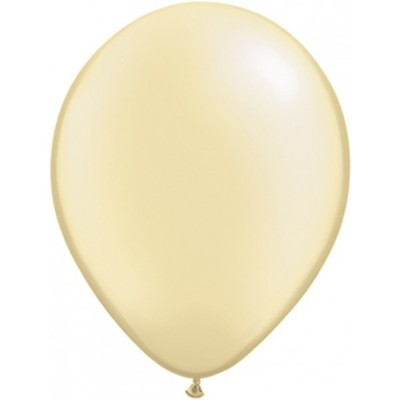 5 Inch Latex Prl Ivory Plain Rnd 100Ctp Polybag balloon