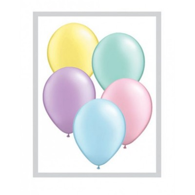5 Inch Latex Pastel Prl Ast Pl Rnd 100Ctp Polybag balloon